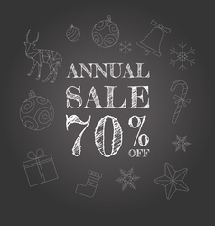Annual sale background vector image