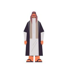 Arabic man in traditional clothes arab businessman vector