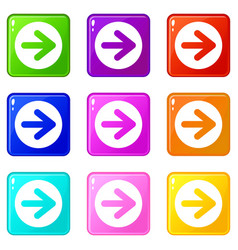 Arrow in circle set 9 vector