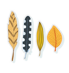 autumn leaves decoration collection for season vector image