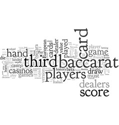Baccarat history and american rules vector