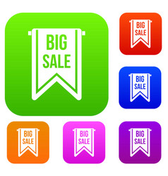 big sale banner set collection vector image