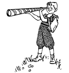 boy with spyglass vector image