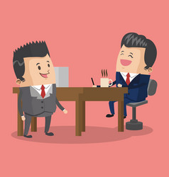 Businessmen at office vector