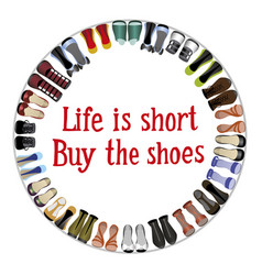 Buy shoes vector