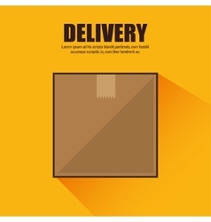 cardboard box cargo shipping design isolated vector image