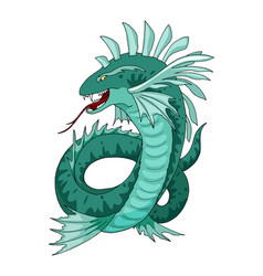Cartoon sea serpent creature character vector