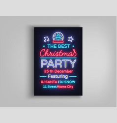 christmas party template brochure vector image