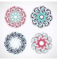 Circle ornaments vector image