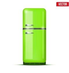 Classic Fridge refrigerator isolated on white vector