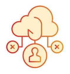 Cloud phishing flat icon data phishing orange vector