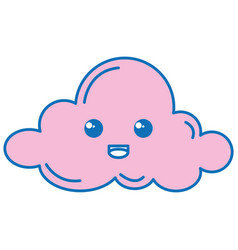cloud sky kawaii character vector image