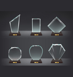 Collection of modern glass vector