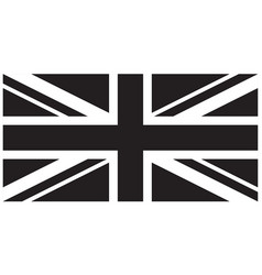 correct black white union jack united kingdom flag vector image
