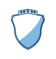 Crest emblem five stars vector