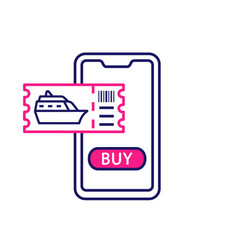Cruise tickets buying color icon vector