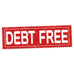 Debt free grunge rubber stamp vector
