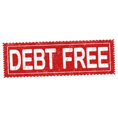 debt free grunge rubber stamp vector image