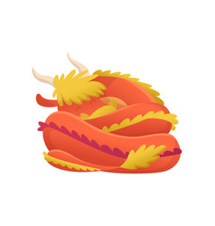 dragon cartoon cute sleep dino character vector image
