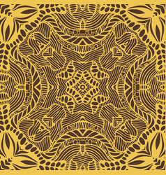 elegant boho mandala with many ornament golden vector image