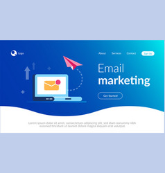 email marketing concept new close letter and vector image