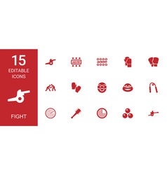 fight icons vector image