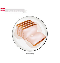 flaeskesteg or roasted pork the danish national d vector image