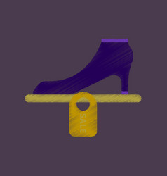 flat shading style icon shoes discounts vector image