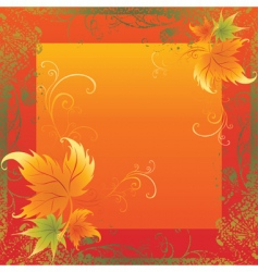 Frame with colorful autumn leafs than vector