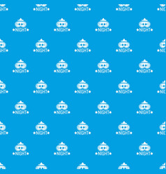 good night pattern seamless blue vector image