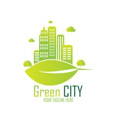 green city logo vector image