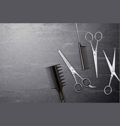 Hairdress tools background vector
