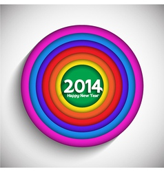 Happy new year background with a colourful circle vector