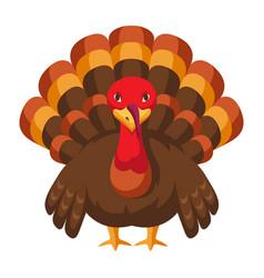 happy thanksgiving turkey vector image
