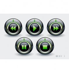high tech buttons vector image vector image