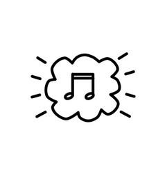 icon isolated music white picture modern sound vector image