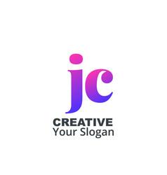 Initial letter jc lowercase design logo template vector