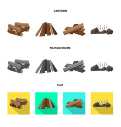 Isolated object material and logging sign vector