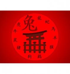 Japanese gate vector image