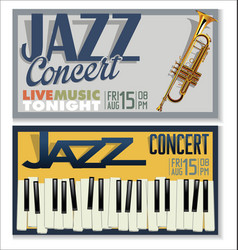 jazz concert banner 5 vector image