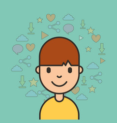 kids social media vector image