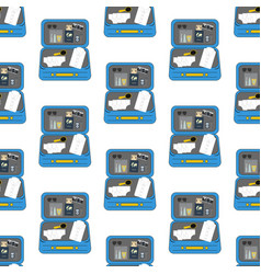 Luggage travel pattern vector