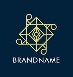 luxury geometry line logo creative concept vector image