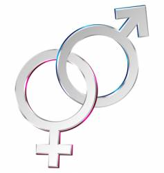 male and female symbols union vector image