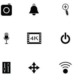 Media player icon set vector