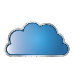 Metallic cloud tridimensional in cumulus shape vector