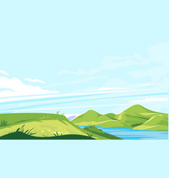mountain panorama from edge hill vector image