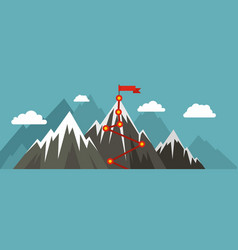 Mountain route banner flat style vector