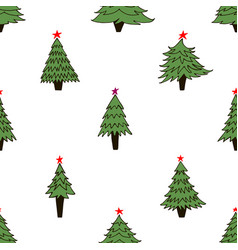 new year tree pattern vector image