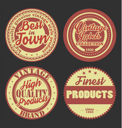 pastel color vintage labels collection 9 vector image